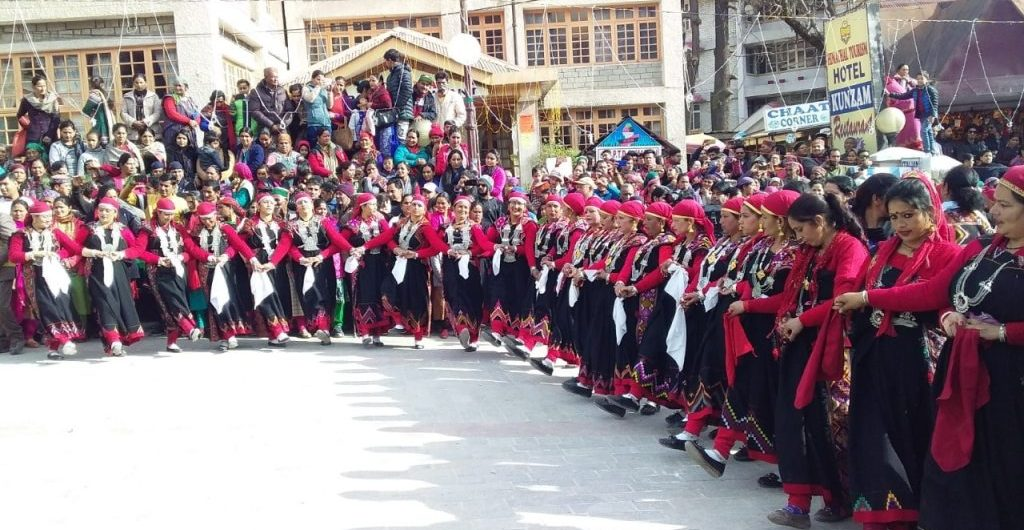 Folk dance during Manali Winter Carnival