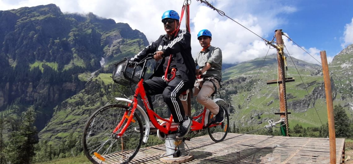 Sky cycling in Manali